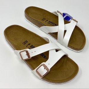 Birkenstock Shoes - Birkenstock Sandal 'Yao Hex' shoes White shoe 40